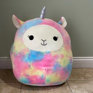 """NWT Squishmallow 16"""" Lucy-May Rainbow Llam…"""